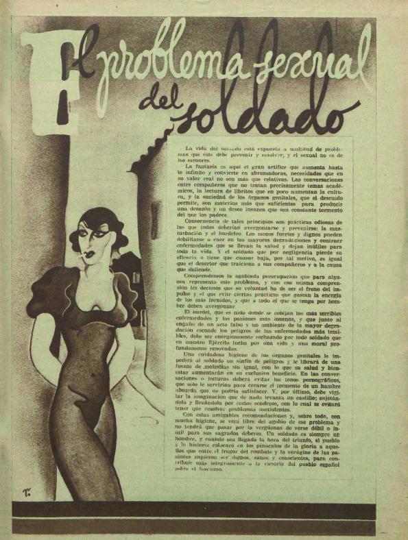 «La vida sexual del soldado» ( 25 División , enero de 1938)