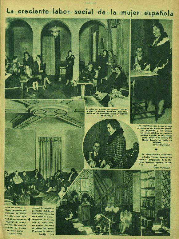 Varios locales feministas, entre ellos Magerit ( Ahora , 13 de marzo de 1932)