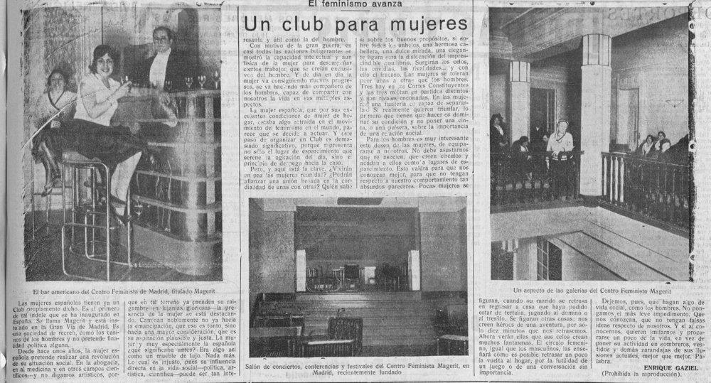 La apertura del club en la prensa ( El Adelanto , 17 de marzo de 1932)