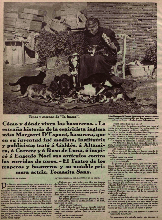 Margaret en su casa junto a sus gatos ( Crónica , 1929)