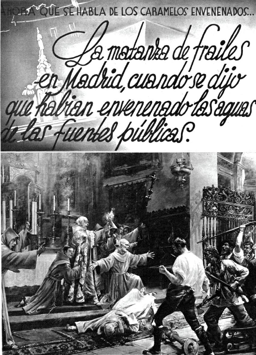 Mundo Gráfico , los frailes «envenenadores» y los caramelos (mayo de 1936)