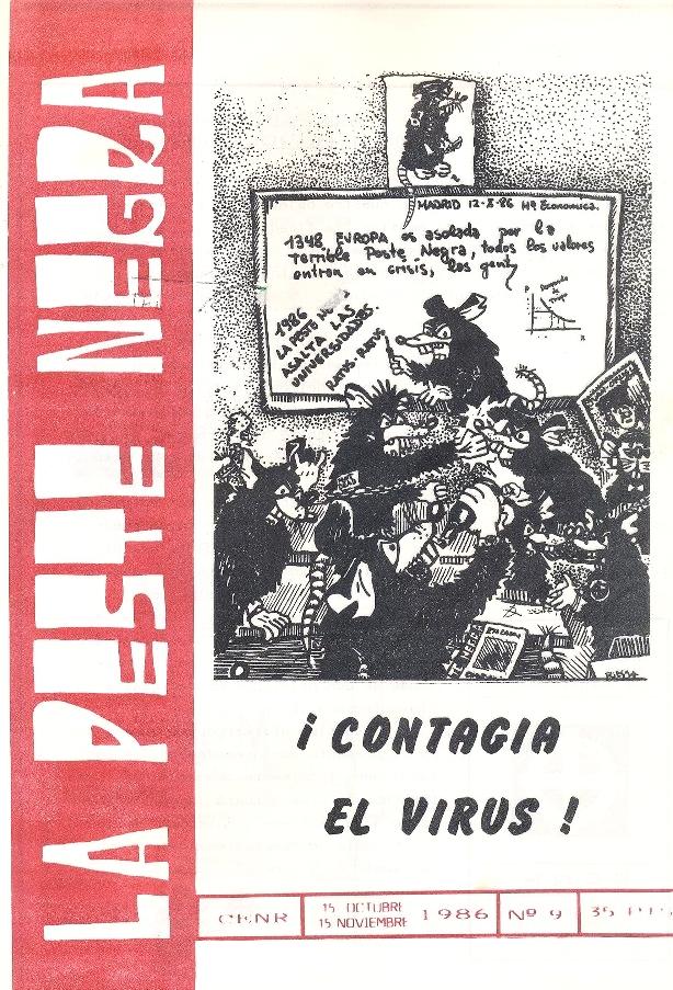 Portada del número 9 de  La Peste Negra  (octubre-noviembre de 1986)
