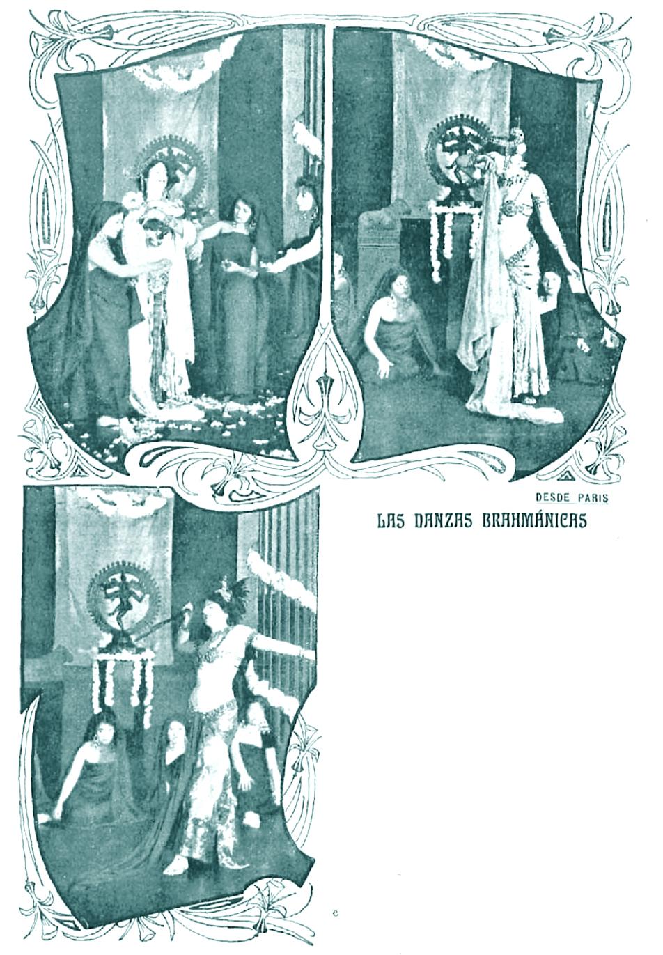 Mata-Hari en  Vida Galante  (14 de marzo de 1905), antes de su llegada a España
