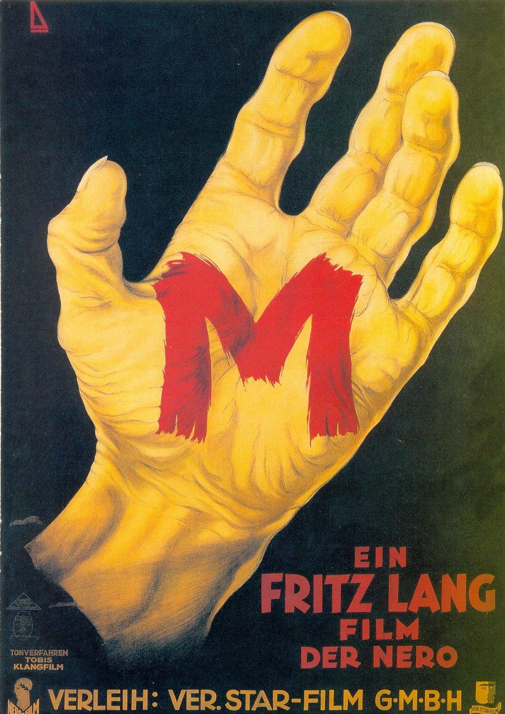M, el vampiro de Düsseldorf , cartel original
