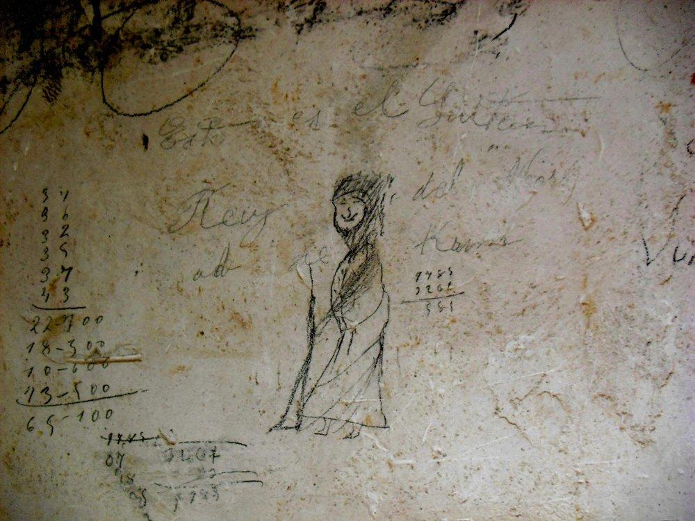 Grafiti en Burriana (Fotografía: Les Mutanyes de la Guerra «Gebal»)