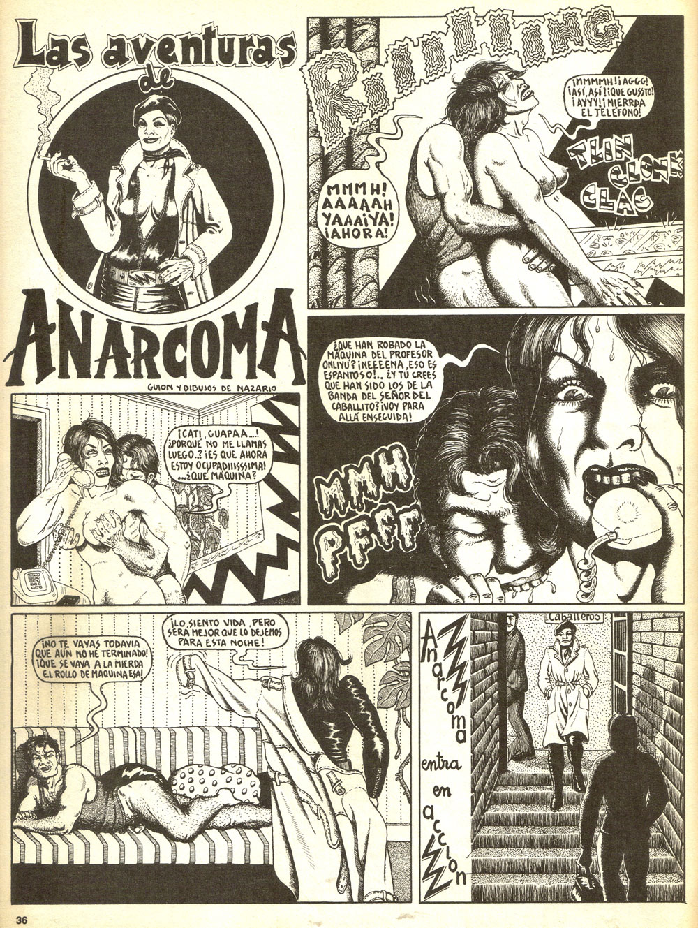 Las aventuras de Anarcoma , por Nazario