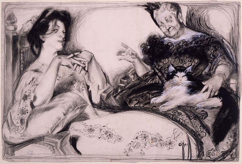 Signs , una historieta de Rose O'Neill para la revista  Puck  (1904)