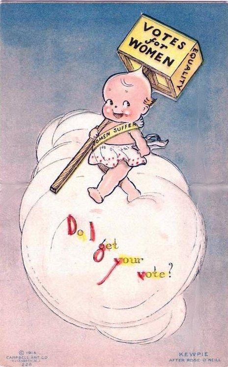 Postales y carteles sufragistas realizados por O'Neill (1914)