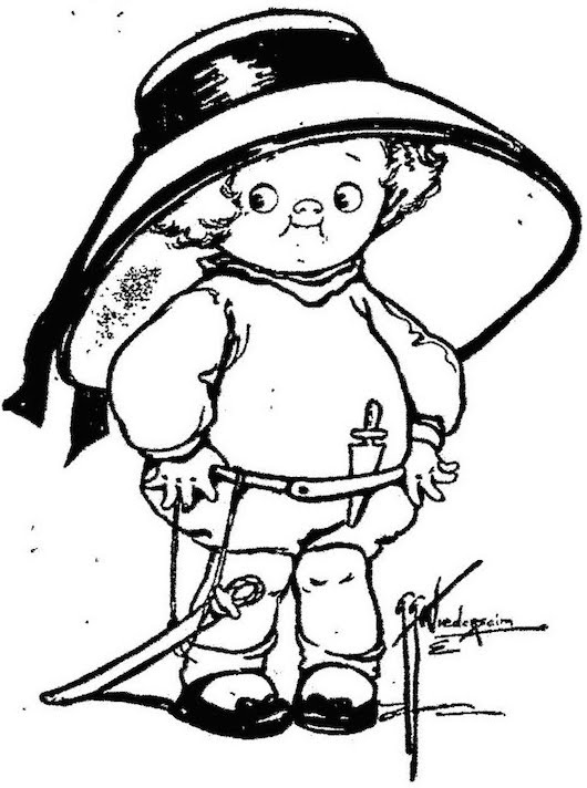 Ilustración de Grace Gebbie para  The Turr'ble Tales of Kaptin Kiddo , una historieta escrita por su hermana Margaret G. Hayes a comienzos de siglo