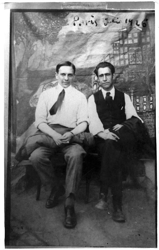 Ismael González de la Serna y Ramón Acín en París (1926). Fundación Acín
