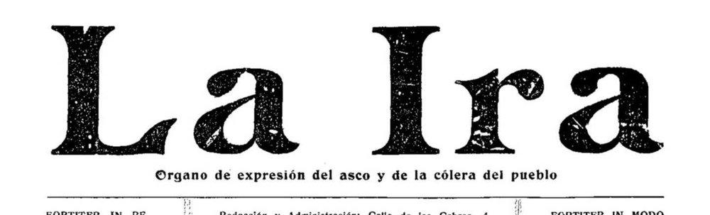 Cabecera del periódico  La Ira