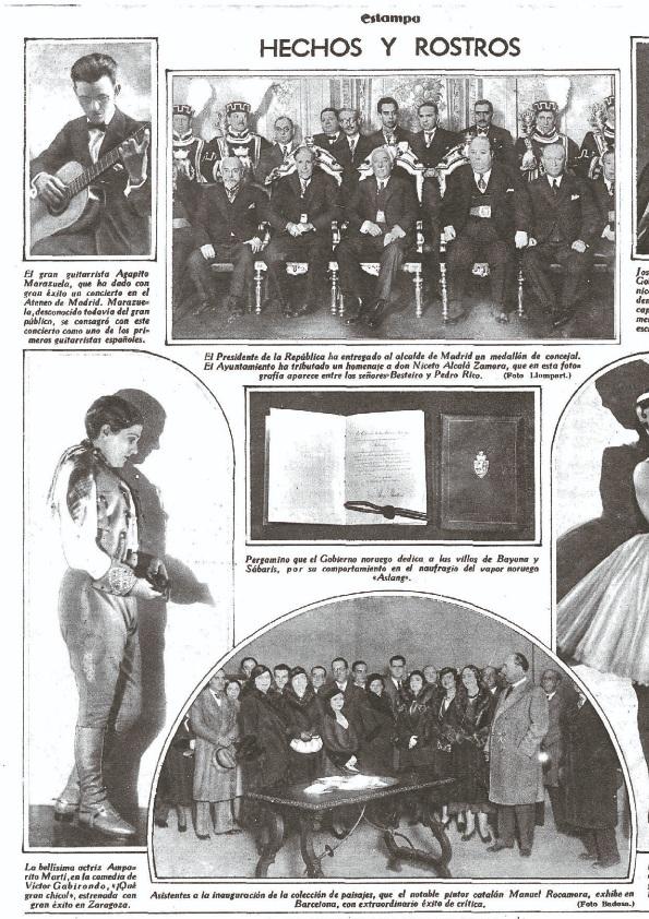 Agapito, arriba a la izquierda, fotografiado durante un concierto en el Ateneo de Madrid