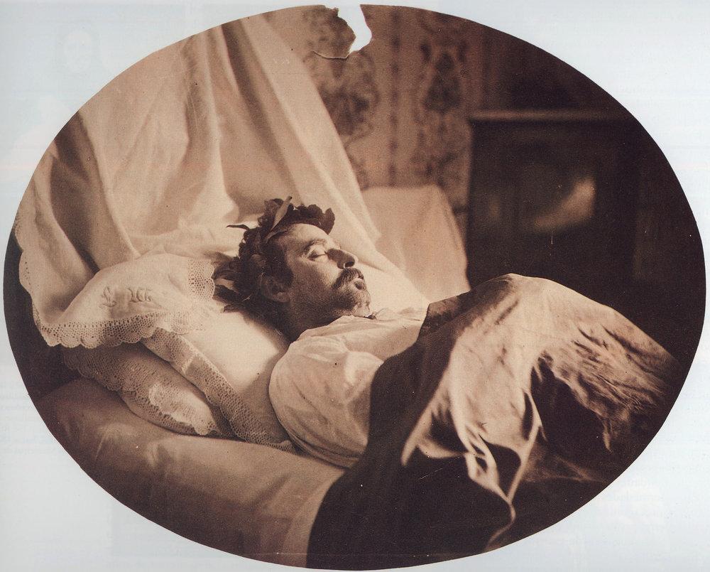 Anónimo. Cadáver laureado del pintor Mariano Fortuny y Marsal, 1874
