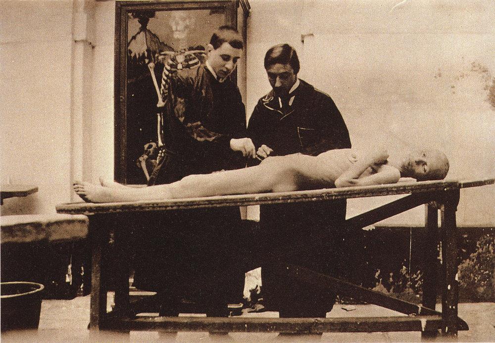 Pla Janini. Clase de disección, 1901