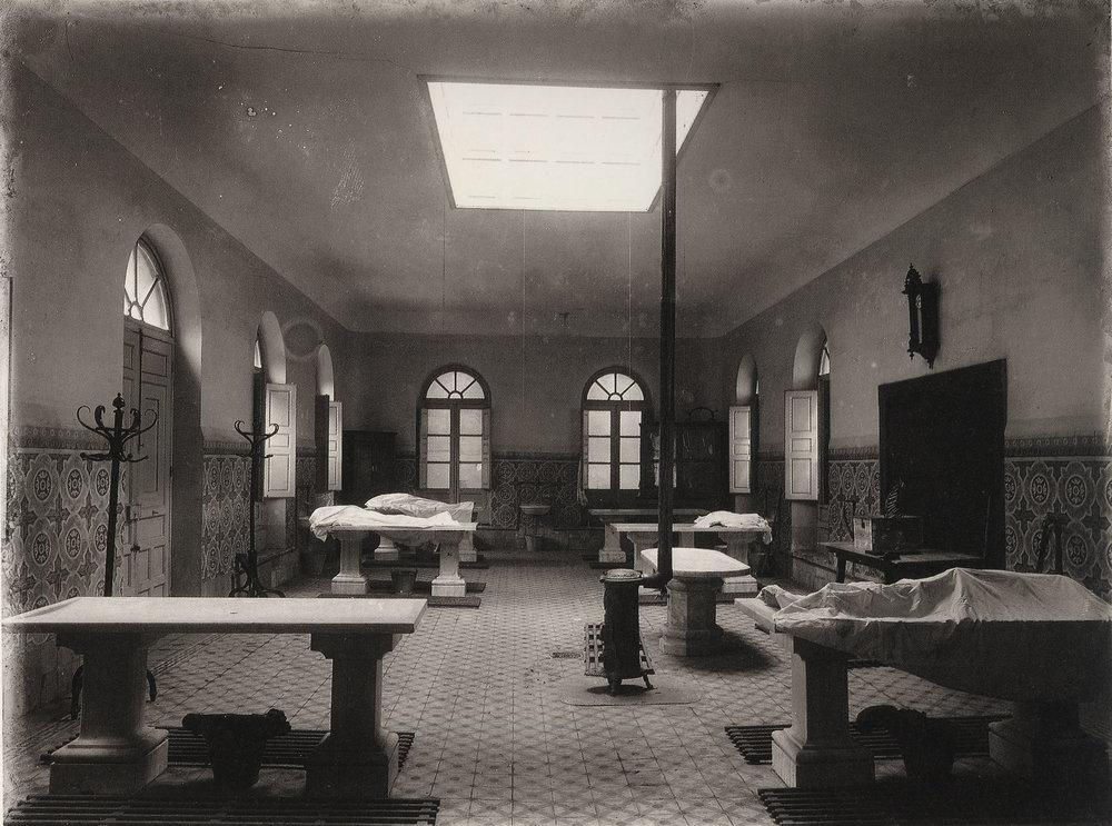 Venancio Gombau. Sala de disección, Salamanca, hacia 1910