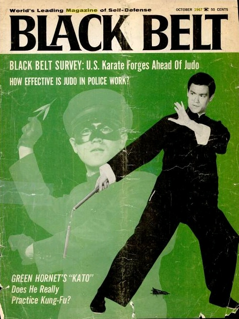 Bruce Lee portada de  Black Belt  (octubre de 1967)
