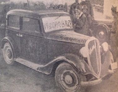 Coche de Lina Odena con el que fueron erróneamente a  las filas falangistas el 14 de septiembre de 1936..jpg