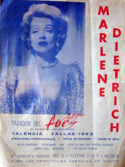 Cartel de su actuación en Valencia