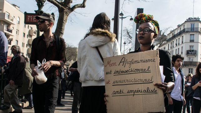 Manifestación por el Día internacional de los derechos de las mujeres organizado por el colectivo 8 Mars pour Toutes. Fotografía: Teresa Suárez