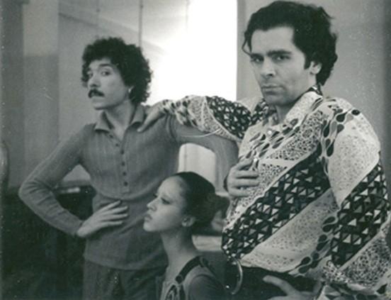 Pat Cleveland, Karl Lagerfeld y Antonio Lopez (París, década de los 70)