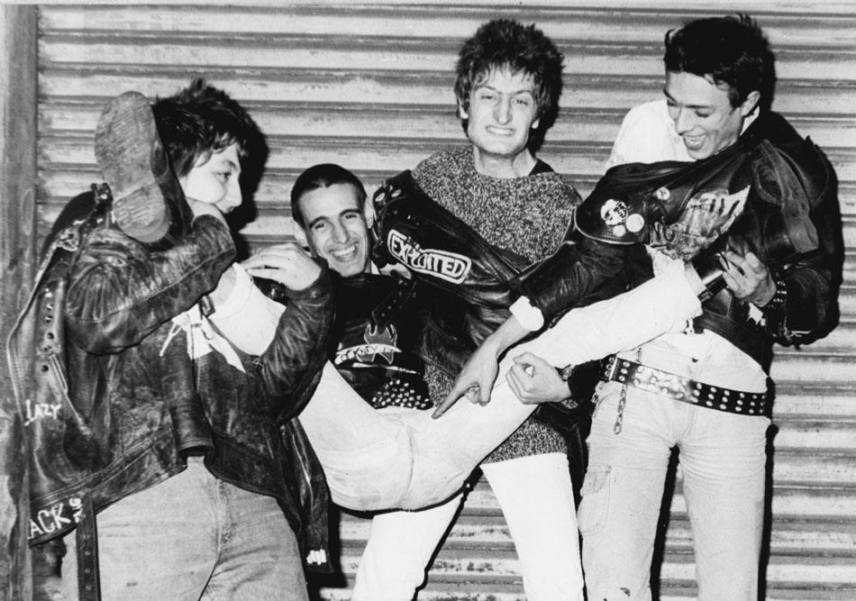 Una de las pocas fotografías que se conservan de Frenopatics con Boliche, Xavi Shock, Cirera y Ángel (Archivo Boliche)