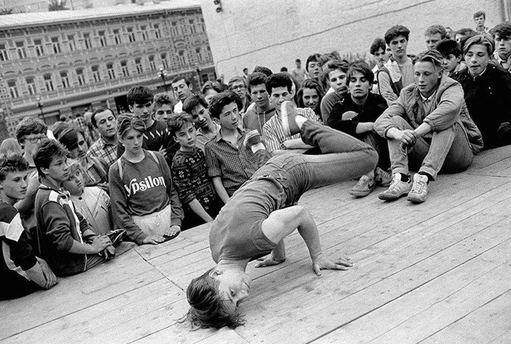 Primeros b-boys en Moscú en los años ochenta