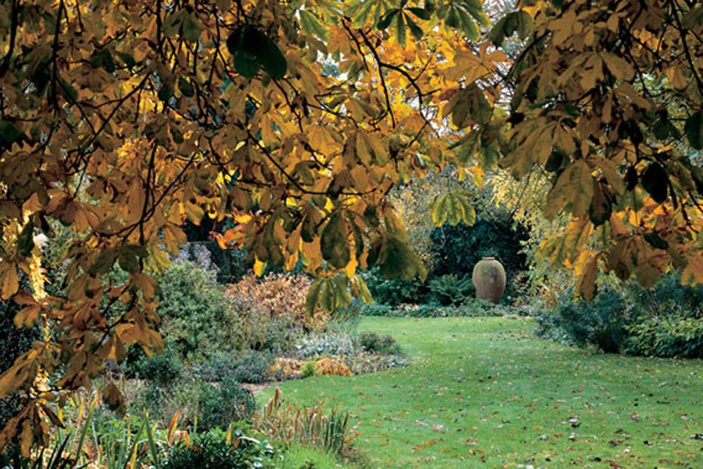 Autumn and the long vista in turn end's garden. © richard bryant / arcaidimages.com