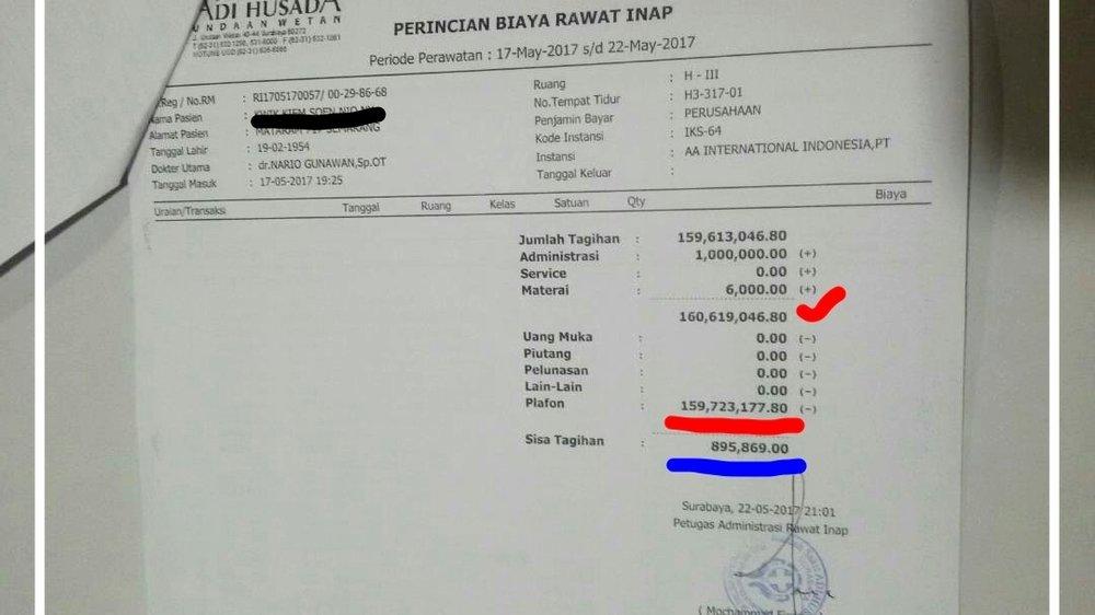 total klaim terbayarkan rp 159,732,155.80