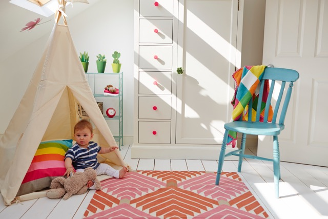 A light-filled attic nursery in North West London