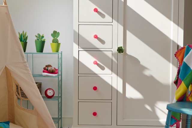 Customised Mamas & Papas wardrobe with Zara Home knobs