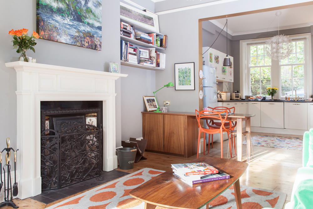 Looking north from the living room to the now open-plan kitchen/Photo: Susie Lowe