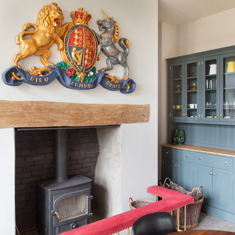 The crest - a vintage find - brings the unicorn count to three/Photo: Susie Lowe
