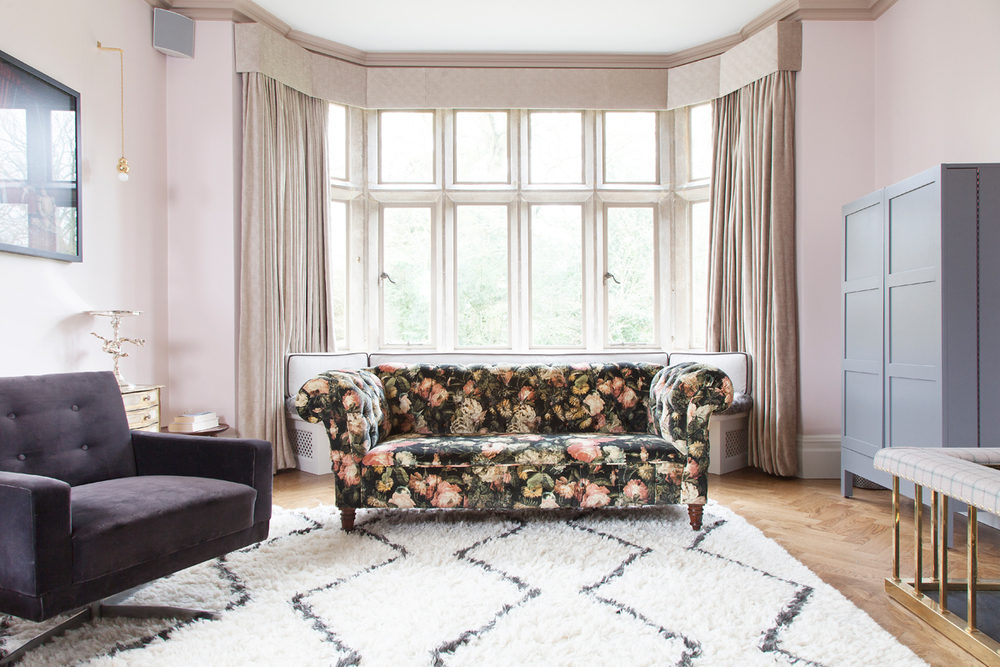 The chesterfield, covered in House of Hackney velvet, not sticky fingerprints/Photo: Susie Lowe