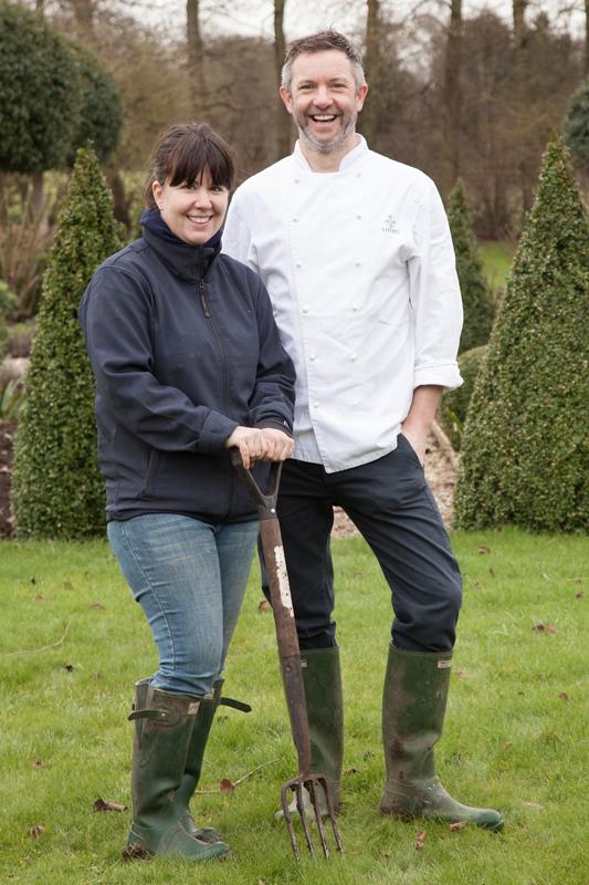 Gardener Sam and culinary director Daryll/Photo: Susie Lowe