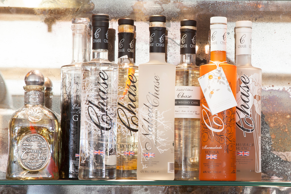 Chase vodka and Casa Noble tequila/Photo: Susie Lowe