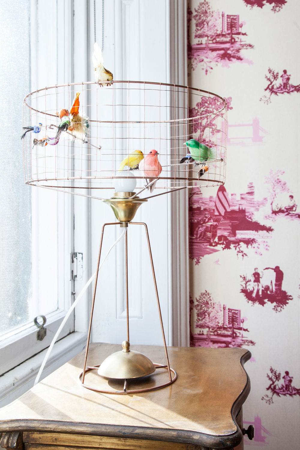 Bird cage lamp: fair swap for childcare/Photo: Susie Lowe
