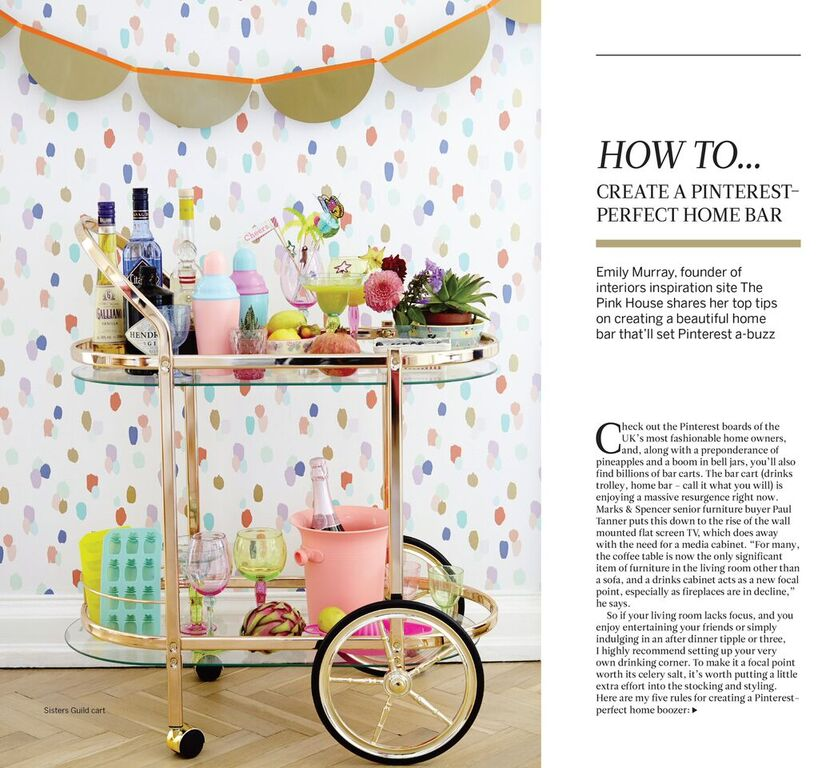 i-on magazine Pinterest perfect home bar The Pink House