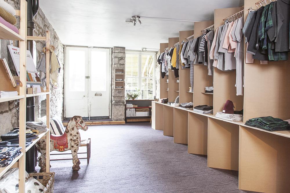 Inside Bon Tot's cardboard shop/Photo: Susie Lowe