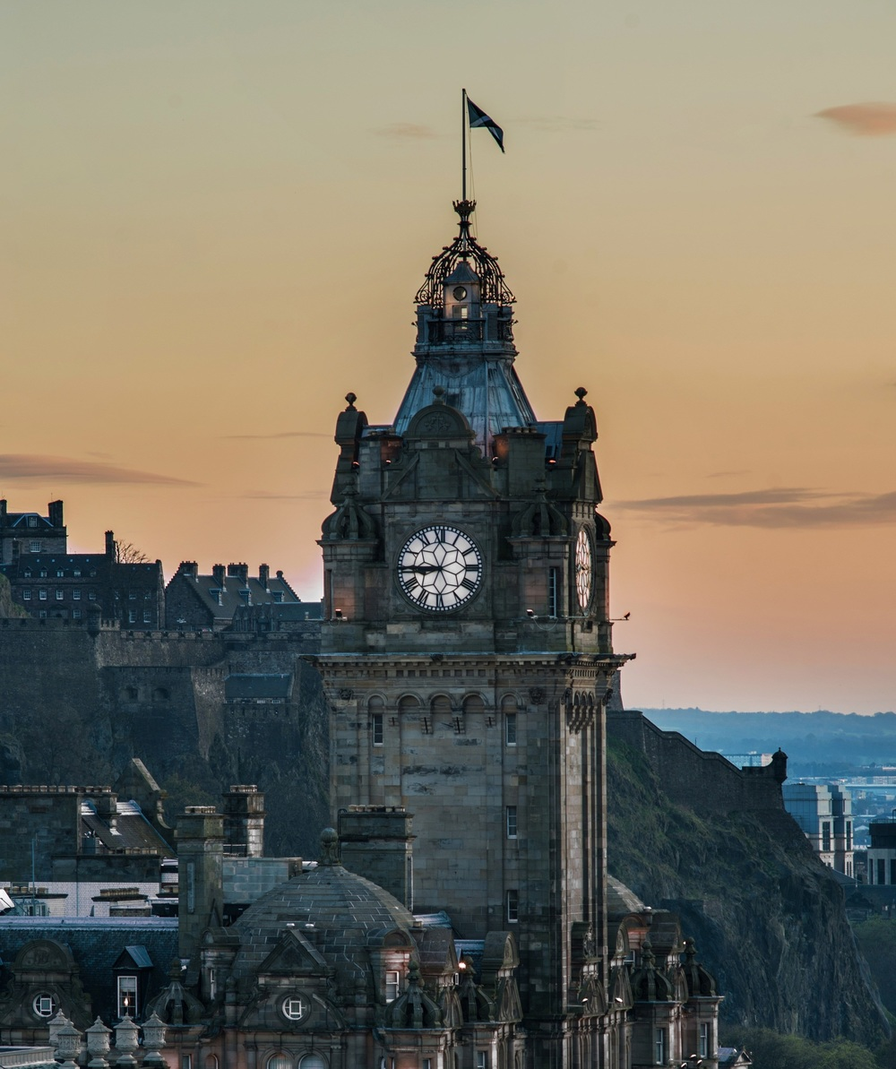The Balmoral clock tower - set three minutes fast so you don't miss your train/Photo: Rocco Forte Hotels