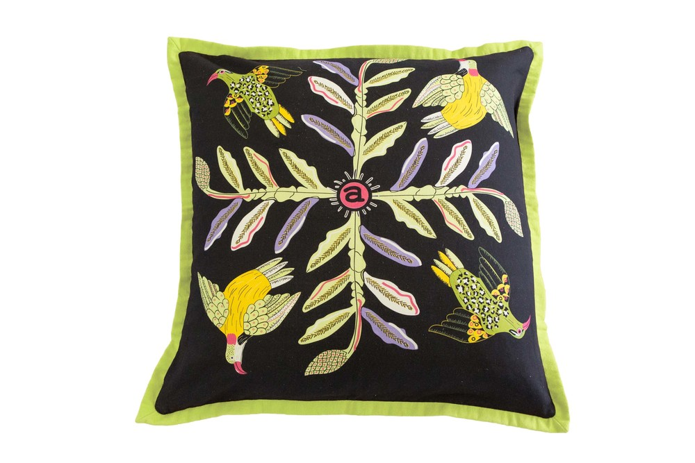 Halsted Bird Crossing cushion