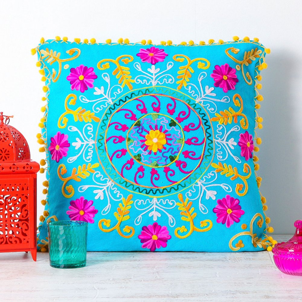 Suzani floor cushion from Cult Furniture: turquoise is for life, not just for holidays