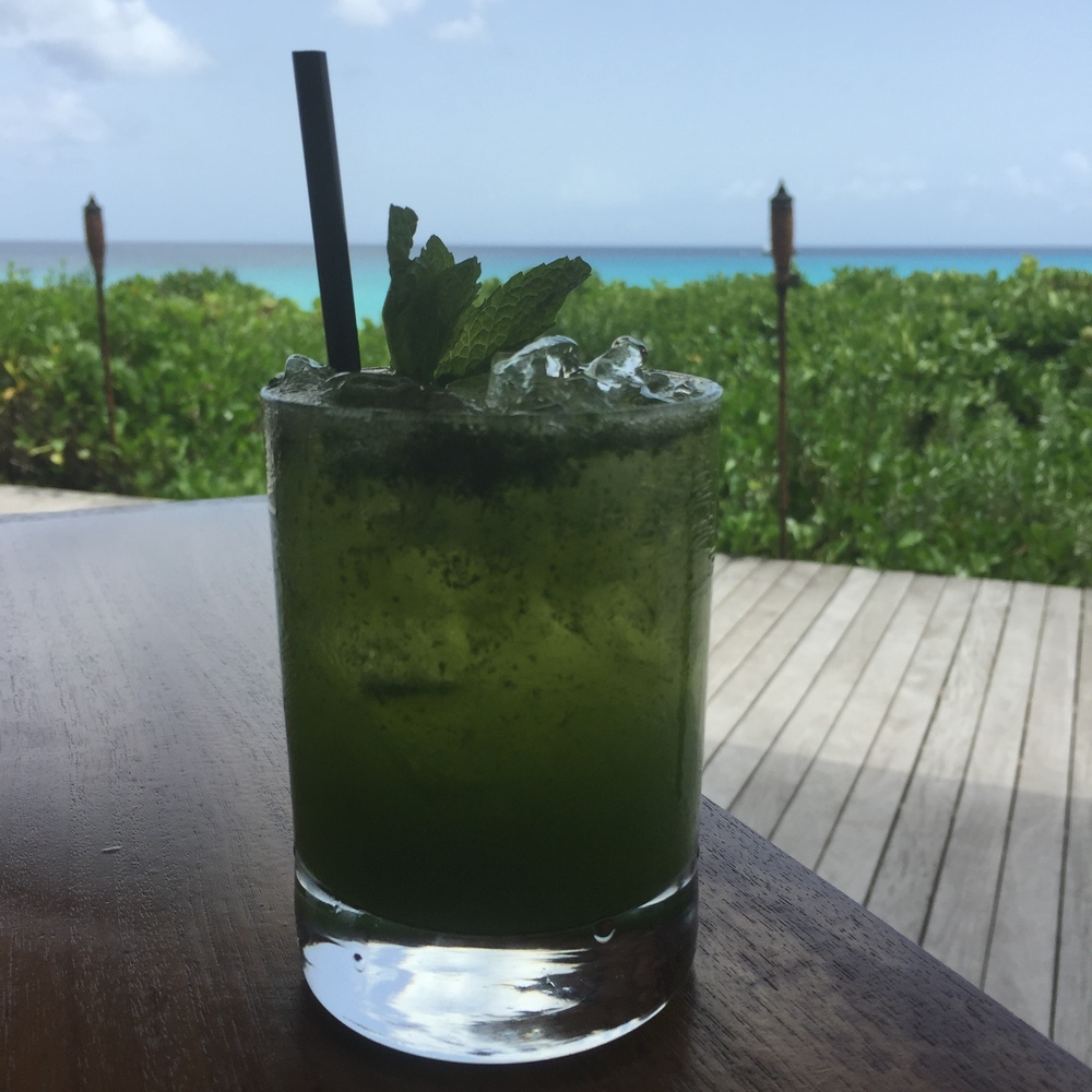 The Amanyara mojito: don't sip and cycle
