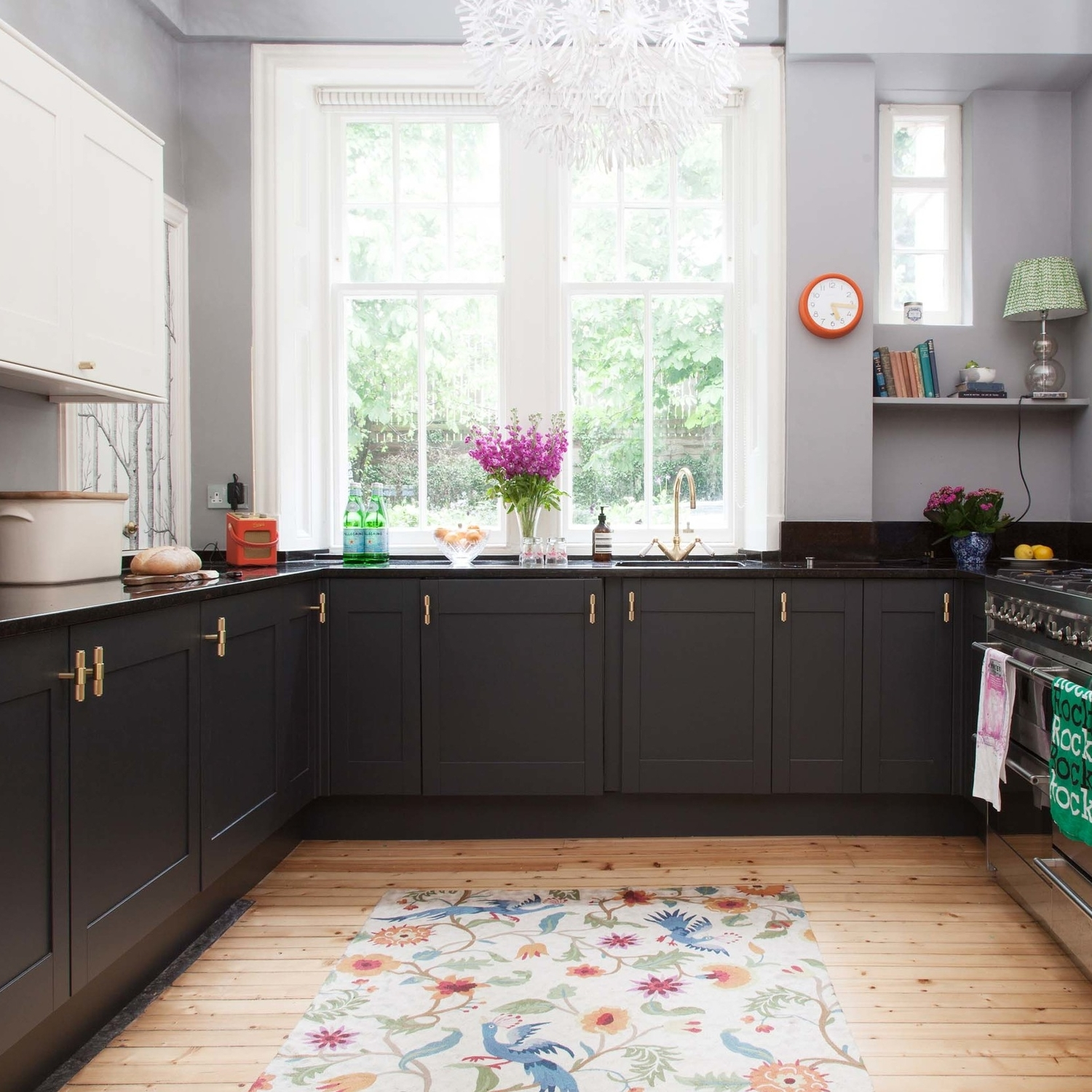Farrow And Ball Railings Paint the pink house kitchen makeover part 2 - the big reveal