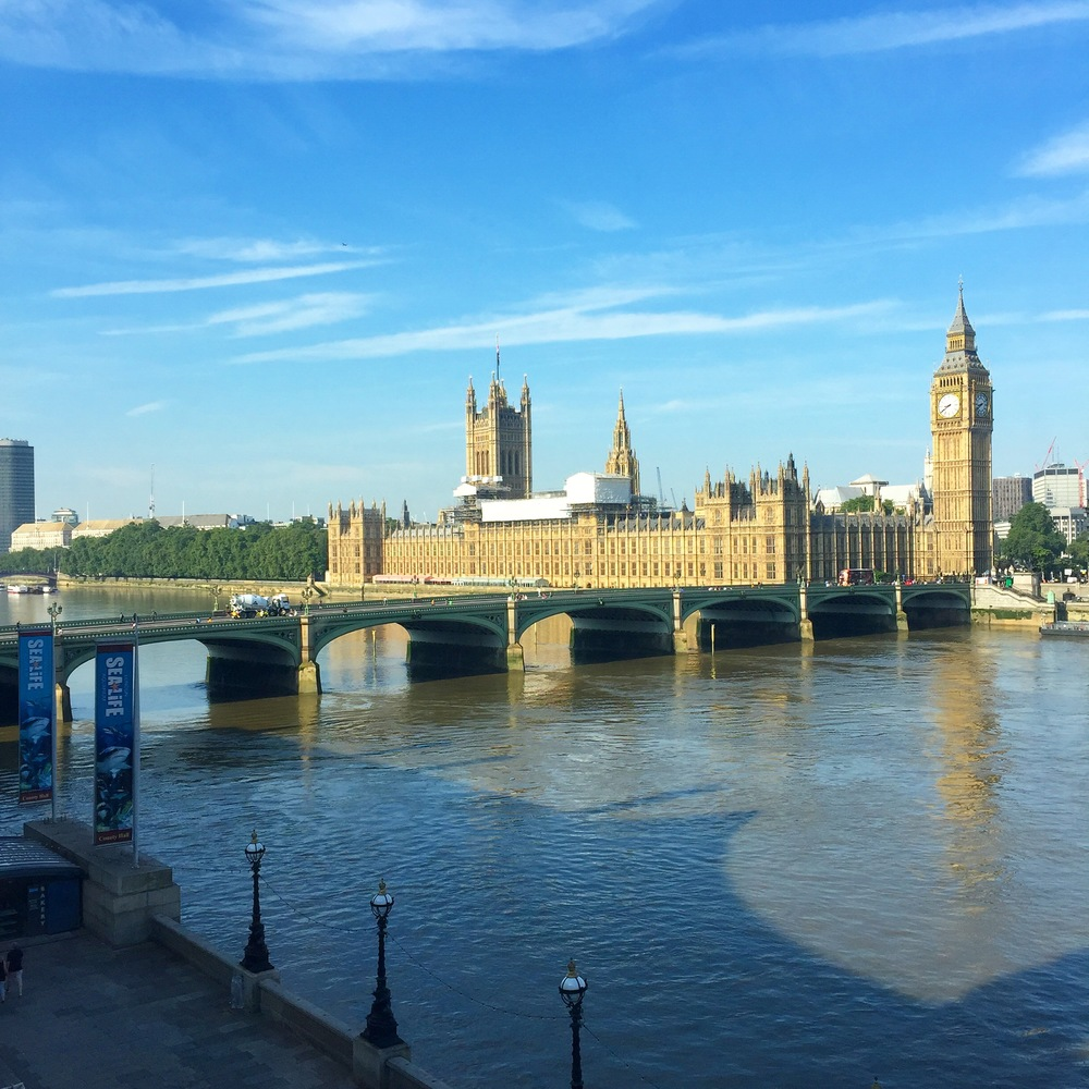 View of Big Ben and the Houses of Parliament from Marriott County Hall