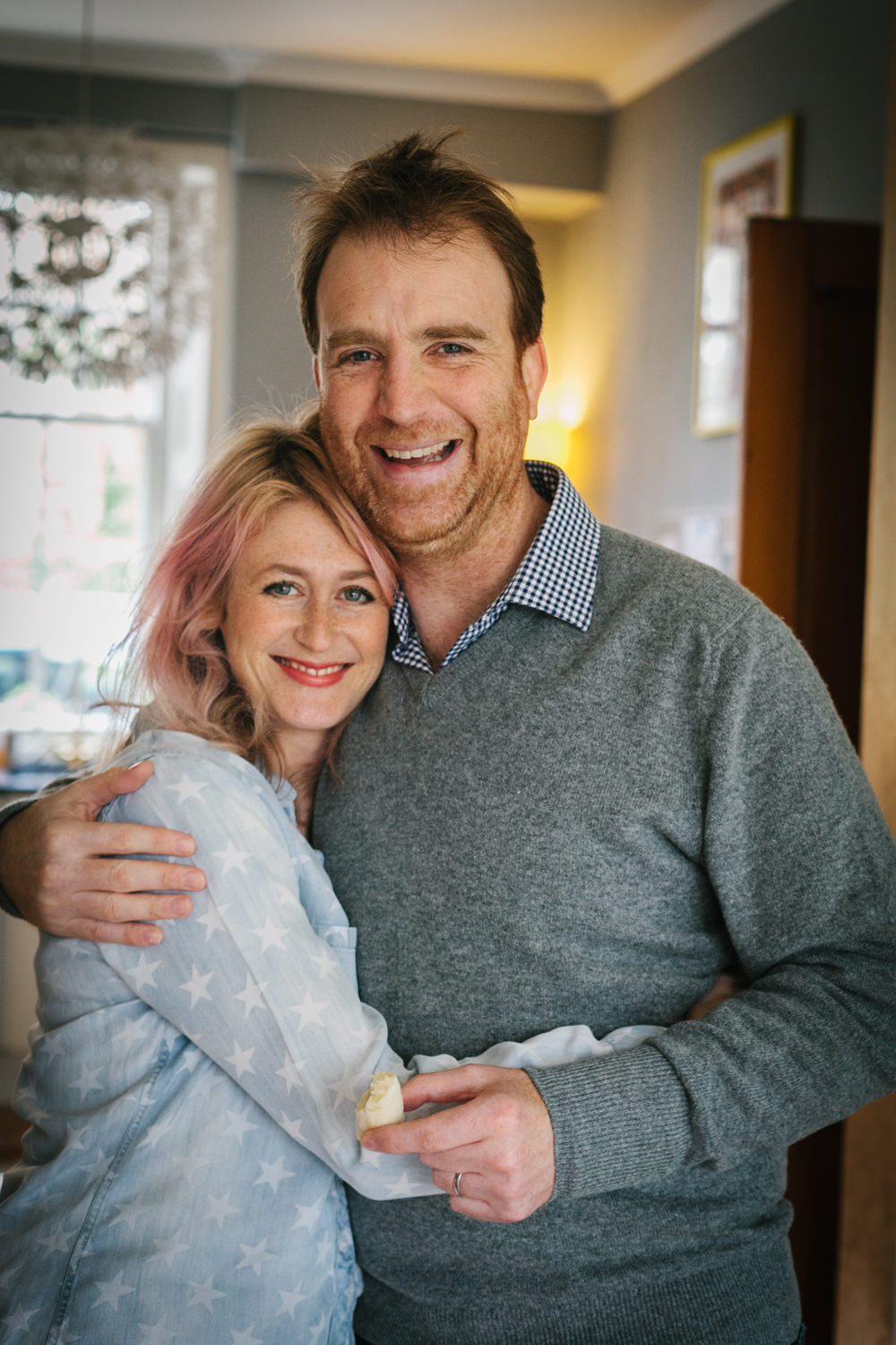 Pink House Husband, his errant wife, and a morsel of banana/Photo: Andrea Thomson