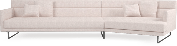 Amor large angular sofa in Blossom