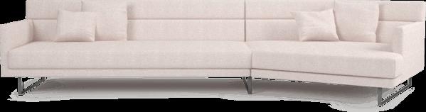 Amor large angular sofa in Blossom