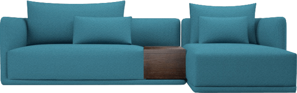 Elan corner sofa with storage, in Peacock