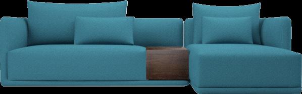 Elan corner sofa with storage, in Peacock