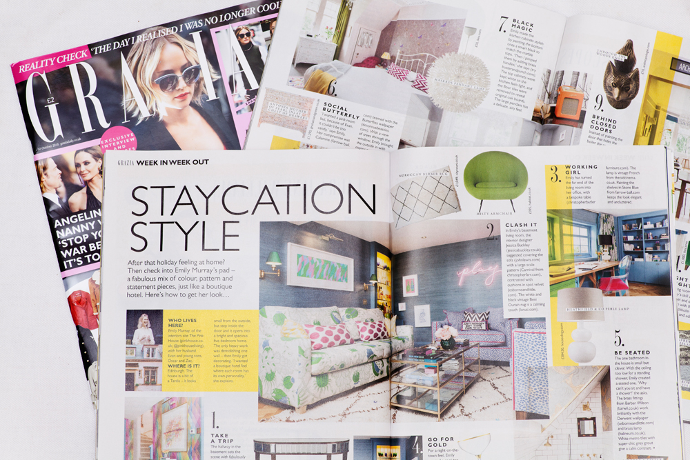 Emily Murray and The Pink House in Grazia magazine